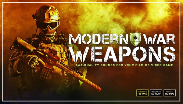 MILITARY WEAPONS OF WAR SOUND EFFECTS LIBRARY - Army Combat Battlefield Weapon Sounds [Warfare SFX]