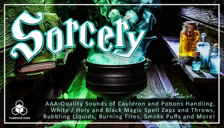 Sorcery Magic Sound Effects Library - Fantasy Witch Potions & Spells Royalty Free SFX Audio Pack