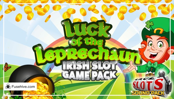 LUCK OF THE LEPRECHAUN, IRISH CASINO SLOT GAME MUSIC AND SOUND EFFECTS LIBRARY (St Patricks Day Pack