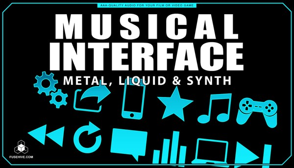 Metals Liquids & Synths User Interface Sound Effects Library - Musical UI SFX MINI PACK