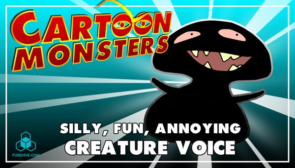 Silly, Fun & Annoying Modern Cartoon Creature - Royalty Free Voice Samples Library [Animation SFX]