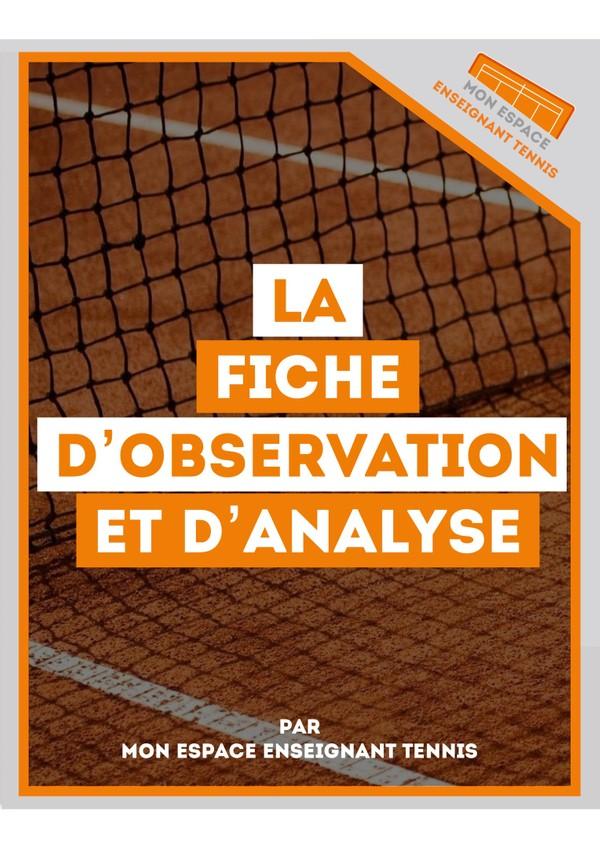 LA FICHE D'OBSERVATION ET D'ANALYSE