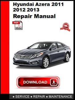 Hyundai Azera 2011 2012 2013 2014 2015 Repair Manual - autoservicerepairSellfy
