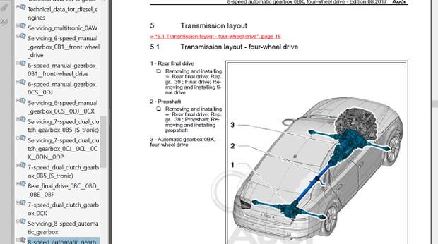 Audi A6 2011 2012 2013 2014 2015 2016 2017 2018 Repair Manual