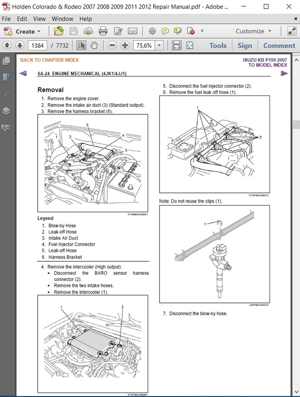 Holden Colorado & Rodeo 2007 2008 2009 2011 2012 Repair Manual