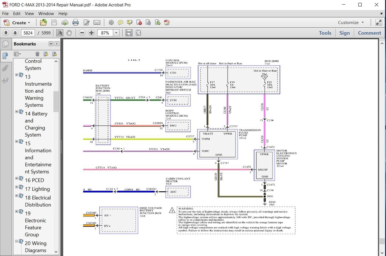 ford b max wiring diagram ford c max 2013 2014 repair manual autoservicerepair  ford c max 2013 2014 repair manual