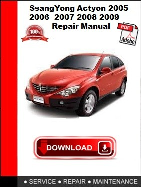 2003 2008 ssangyong kyron workshop repair service manual best download
