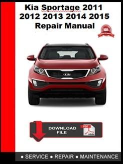 Kia Sportage 2011 2012 2013 2014 2015 Repair Manual