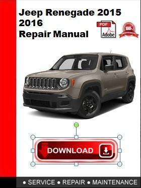 repair manual jeep renegade