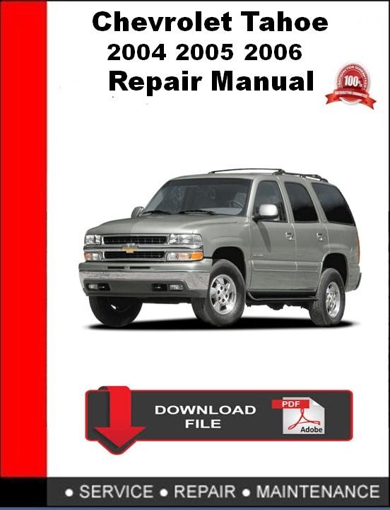 Chevrolet Tahoe 2005 Repair Manual