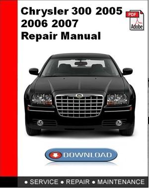 Chrysler 300 2005 2006 2007 Repair Manual
