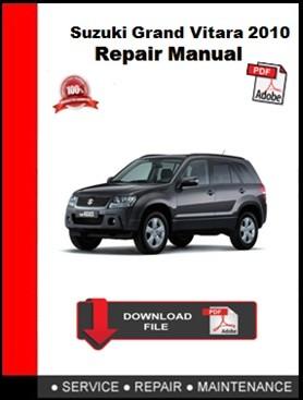 Suzuki Grand Vitara 2010 Repair Manual