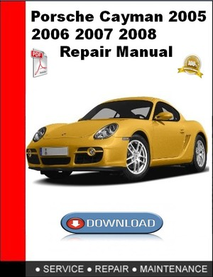 Porsche Cayman 2005 2006 2007 2008 Repair Manual