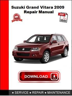 Suzuki Grand Vitara 2009 Repair Manual