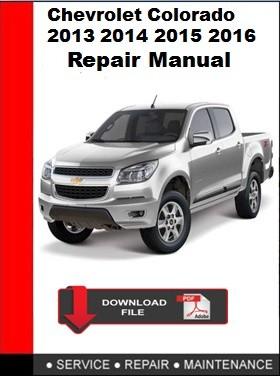 2016 chevy colorado service manual pdf