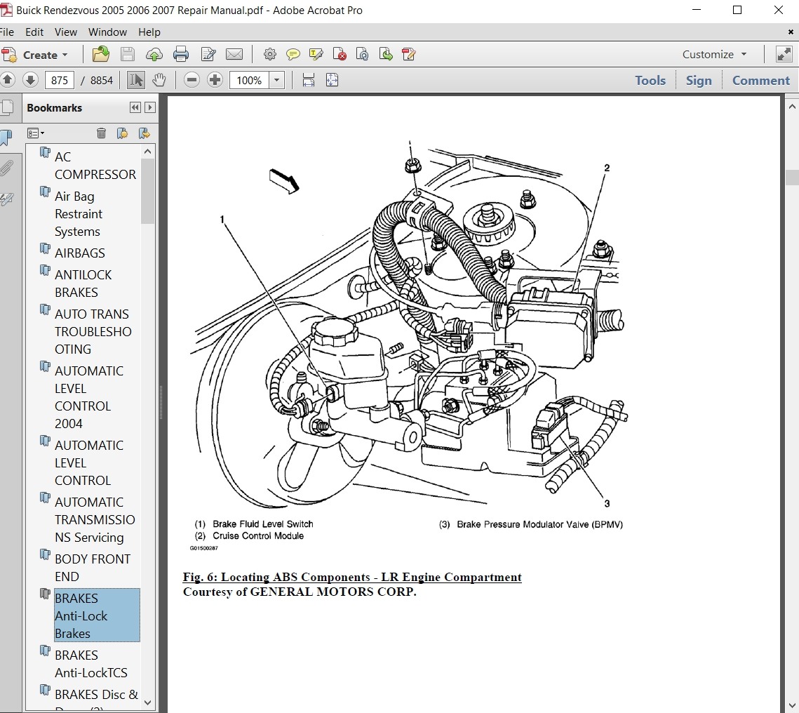 2005 Buick Rendezvou Engine Diagram