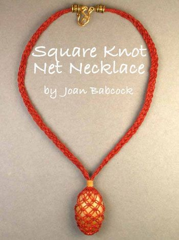 Square Knot Net Necklace