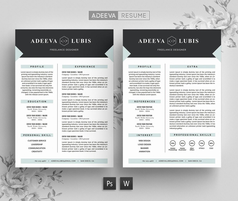 Modern Resume Template / CV Template | Adeeva Lubis