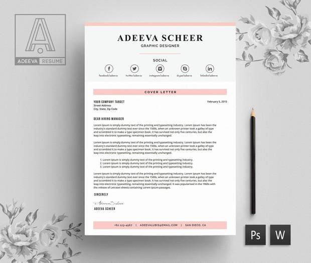 Simple Resume Template / CV Template | Adeeva Scheer