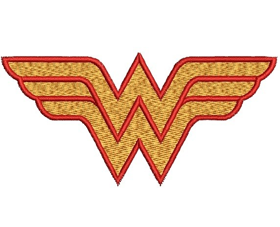 Wonder Woman Logo Embroidery Design - Kate Hadson-6816