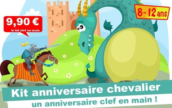 (8/12 ans) Kit anniv. Chevalier & Princesse: l'épée magique