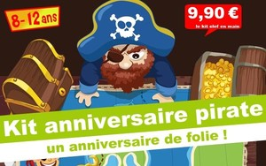 ( 8/12 ans) Kit anniv. Kolat le Pirate