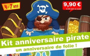 ( 4/7 ans) Kit anniv. Kolat le pirate