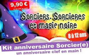 (8/12 ans) Kit anniv. Sorciers, Sorcieres & Magie noire