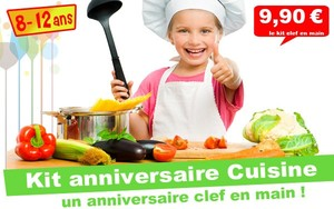 (8/12 ans) Kit anniv. Top Cuistot : Panique en cuisine !