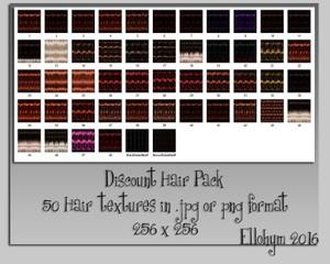 Ellohym - Discount Hair Pack 2 - 50 Hair Textures