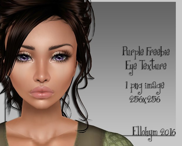 Ellohym - Purple Freebie Eye Texture!!!