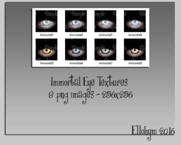 Ellohym - Immortal Eye Textures - 8 High Quality .png Images