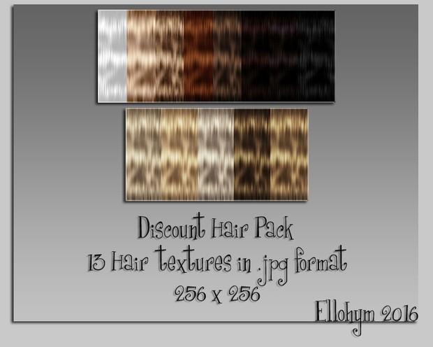 Ellohym - Discount Hair Pack 1 - 13 Textures