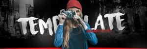 Vlogger Style Twitter Header Template!