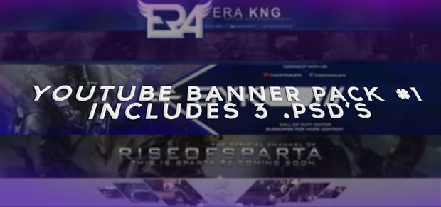 YouTube Banner Pack #1! - 3 PSD's