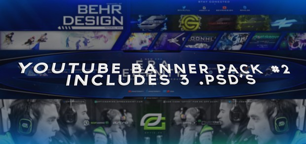 YouTube Banner Pack #2! - 3 PSD's