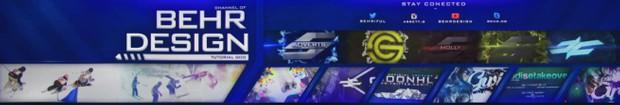 PSD - BehrDesign YouTube Banner (Editable)