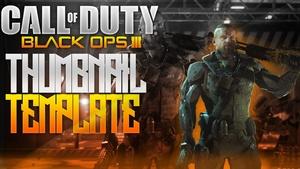 Black Ops 3 Thumbnail PSD
