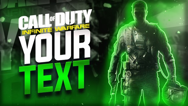 Infinite Warfare - Color Changing Thumbnail Template!