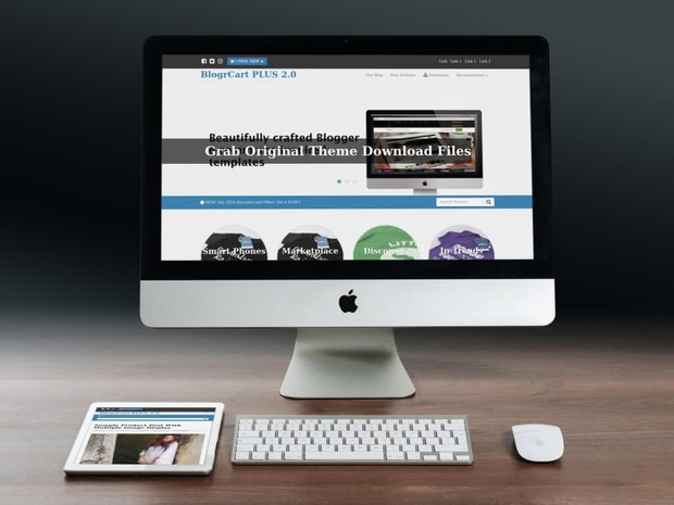 BlogrCart PLUS (Complimentary v2.0) E-Commerce Pre-Made Blogger Template No Attribution Links