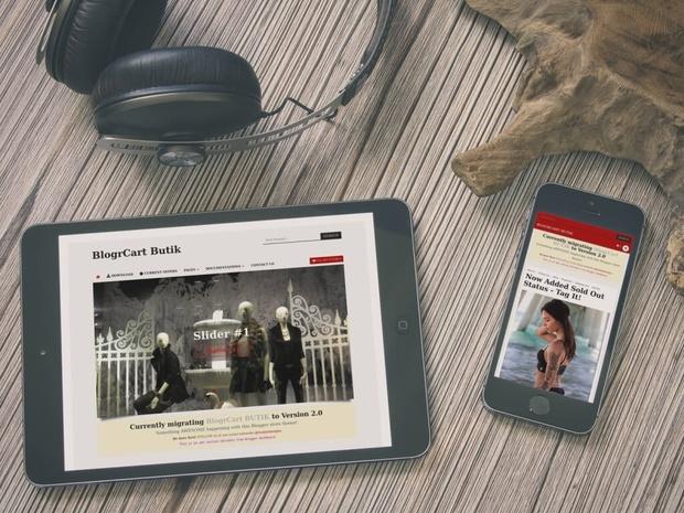 BlogrCart BUTIK (v2.0) Free Responsive Blogger Store Theme/Template for Blogspot