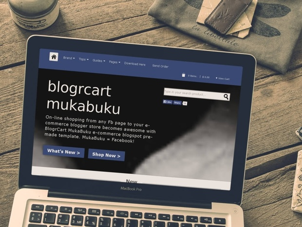 BlogrCart MUKABUKU - Shopping Cart Premade Blogger Template/Blogspot Theme