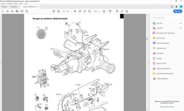 Valtra Valmet  6000 - 8950 -  korjaamokäsikirja - sähköjärjestelmä - 681 sivua