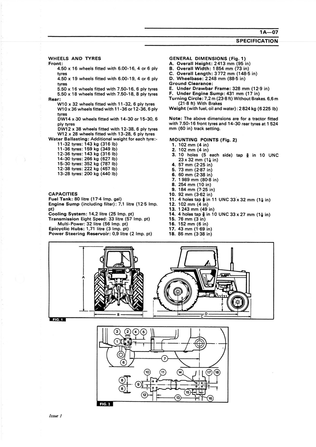 Massey Ferguson 550 565 575 590  service manual    -  english.