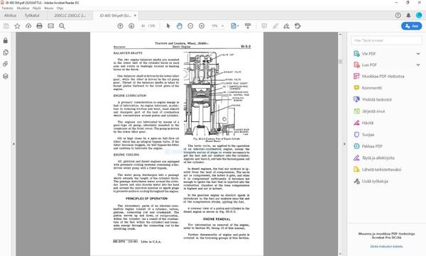 John Deere 400 Wheel Tractors and Loaders - Service manual - SM2074 - english