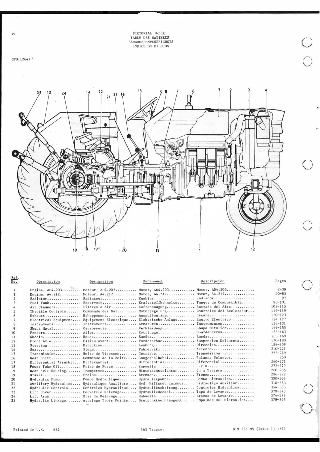 Massey Ferguson 165 - reservdelskatalog - varaosaluettelo (räjäytyskuvat) - parts manual