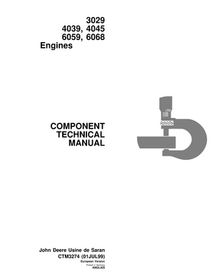 John Deere 3029 4039 4045 6059 6068 engine manual - CTM3274