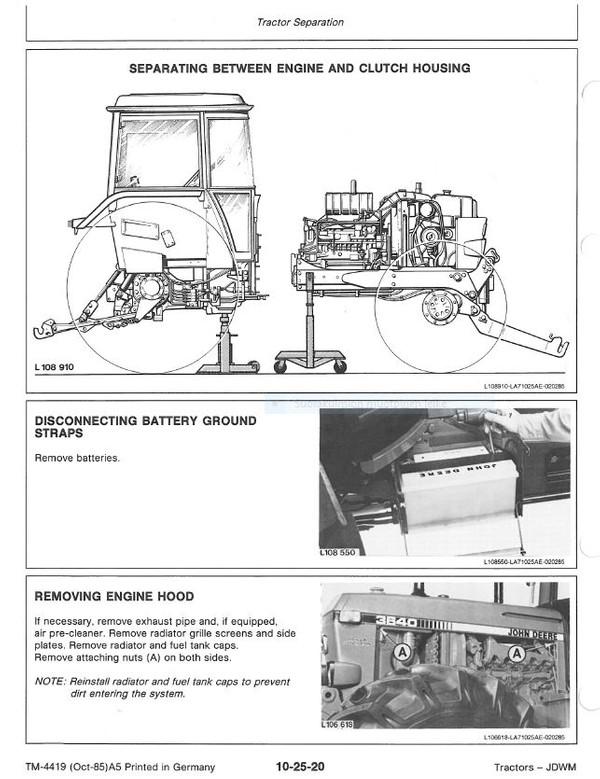 John Deere 3640  technical manual  -  TM4419  -  english