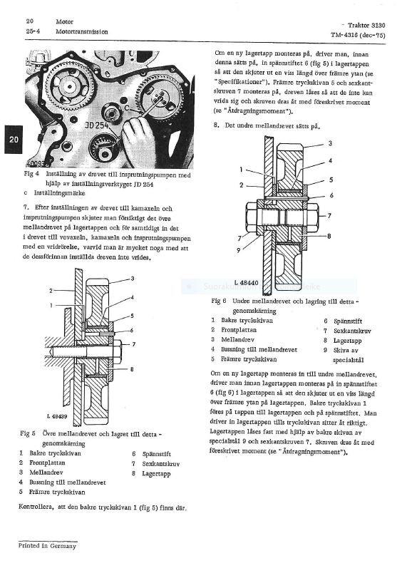 John Deere 3130  verkstadshandbok TM4316