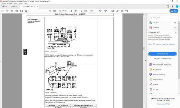John Deere 710D backhoe loader  -  operation + test  manual  -  TM1537  -   english